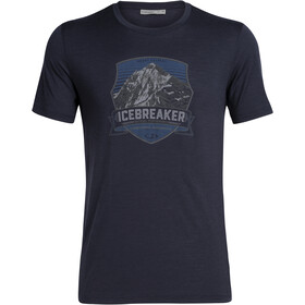 Icebreaker Tech Lite Everest Crest SS Crewe Shirt Herre Midnight Navy